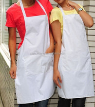 Custom Aprons Manufacturer Cheap Plain Apron Cotton White Apron