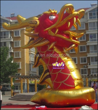 7.5m red and golden New design special advertising inflatable dragon for stage decoration