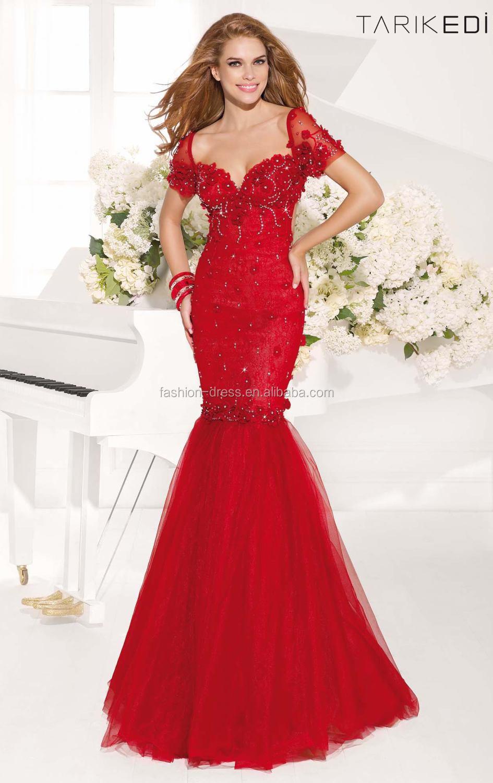 Red Open Back Mermaid Dress Beautiful Open Back Mermaid