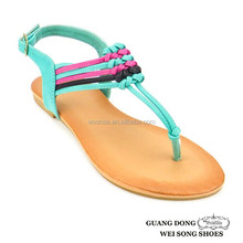 Lowest price good quality mixed colors strap weave name brand fashion sandals women sandale 2014 shoe girls