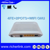 Modern optical fiber communication network unit ONU (GEPON/EPON) with wifi voip