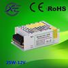 Shenzhen Faithful Power 12V or 24V 25W switching power supply, led strip power supply, IP20 led driver
