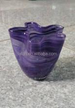 purple drawing handblown glass vase high quality