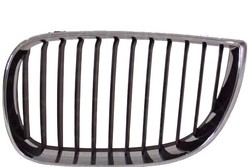 CHROME BLACK FRONT BUMPER GRILLE LH FOR BMW E87 E81 4D 2004 OEM 51137077129