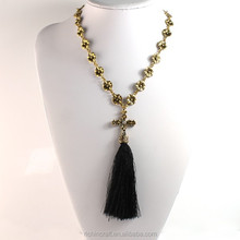 modern design hot sale long chain bali tassel necklace wholesale