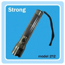 aluminum solar led flashlight