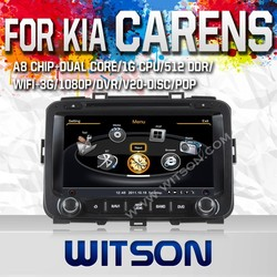 WITSON FOR KIA CARENS 2013 DVD WITH STEERING WHEEL CONTROL WITH A8 DUAL CORE CHIPSET DVR SUPPORT WIFI 3G APE MUSIC BACK VIEW