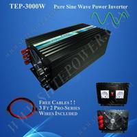 Off Grid Inverter 3kw DC 12V 24V 48V To AC 110V 120V 220V 230V 240V Converter Pure Sine Wave