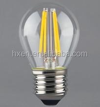 G45 E27 4w led bulb filament golf ball 2700K led bulb with TUV CE ROHS