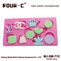 silicone gumpaste mold chocolate mold cake tools Cupcake brand logo topper