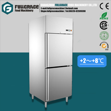 Hot sale 528L overall stainless steel structure vertical commercial refrigerator