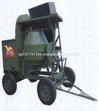 Portátil motor diesel hormigonera eléctrica con tolva de carga de elevación&