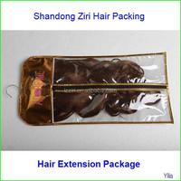pvc hair packing bag,vinyl wig bag. plastic hair extension bag