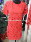 nova moda colete de poliéster rendas de croché roupas para mulheres