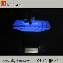 Commercial waterproof illuminated RGB remote control new model dining tables for hotel