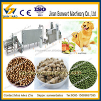 China new design automatic extrusion farm poultry feed machinery/ pet feed milling
