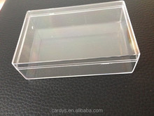 small clear plastic box with lid