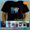 panel with acrylic frame EL flashing light shirt kids led t-shirts/Flashing Lights up EL Panel