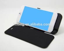 """10000 mah tapa cubierta de cuero de copia de seguridad de alimentación del cargador de la batería caso para 4.7"""" 6 iphone"""