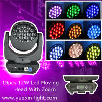 2014 Newest 12W Osram RGBW 4IN 1 with Zoom 19pcs stage light dimmer pack