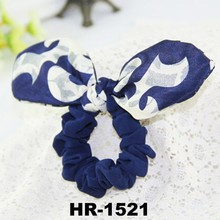 New Design girls rabbit ear elastic bands for hairf