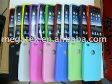 Mobile phone accessories phone case Swivel Circle silicone case for iphone 4, for iphone silicone case