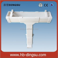 5 inch and 7 inch Square PVC Gutter Roof Drain Gutters