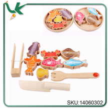 Wholesale Personalized Eye-catching wood beads Fishing toys for Children Painted Assorted Shaped Wooden Beads
