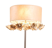 Christmas ceramic loft vintage golden stand floor lamp with cover modern fabric shade flower