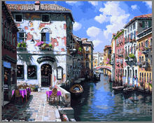 2015 year's Hot sales Venice handmade oil painting with EN-71,ASTM,SGS