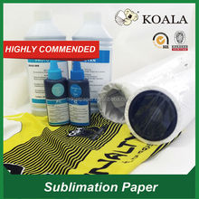 "Dye sublimation heat transfer printing paper 90g 63""*100m (manufacturer)"