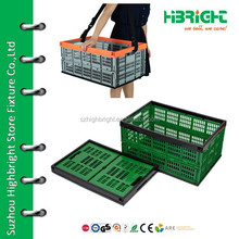 fold up collapsible plastic crate