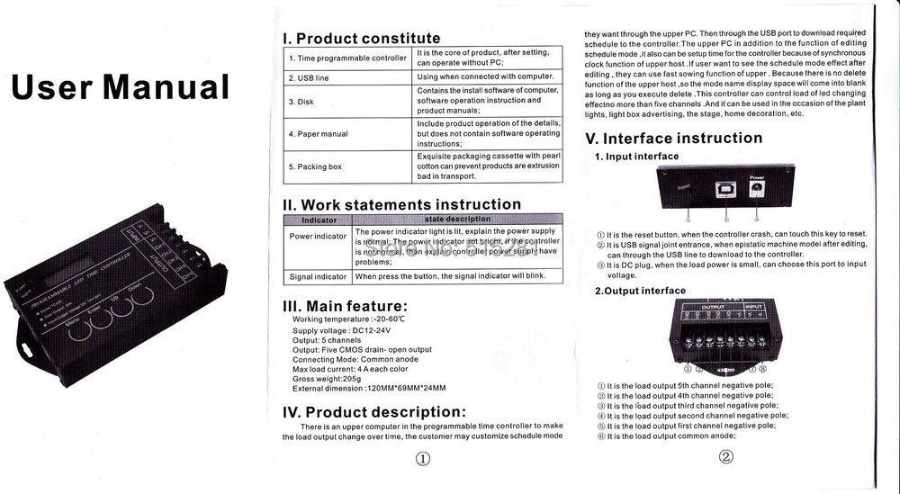 Купить BSOD СВЕТОДИОД Время Контроллера TC420 Программируемый Компьютер Переключатель DC12-24V 20A 5 Каналов Собрать с кабель USB и КОМПАКТ-ДИСК