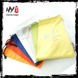Multifunctional microfiber bag with drawstring, custom sunglass pouches, microfiber cloth pouch