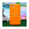 Impact-resistant Silicone Back Case for iPhone 4s 4 - Orange