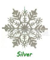 Christmas decoration plastic glitter snowflake ornaments
