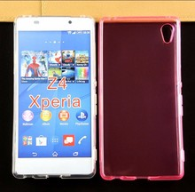 Best cell phone Glossy Clear Cover Case For sony xperia z4 TPU