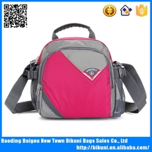 Rose colorful nylon outdoor messenger bag cheap promotional sport bags