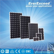 EverExceed High Efficiency 156*156mm Monocrystalline Solar Panel with TUV/VDE/CE/IEC Certificates