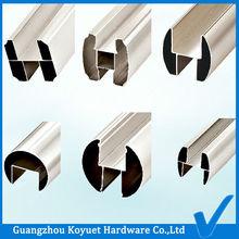 por mayor directamente de la fábrica de partición del tocador de hardware cubículo riel superior nombre de perfiles de aluminio
