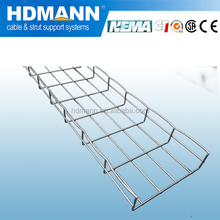 HDG wire mesh grid basket cable tray