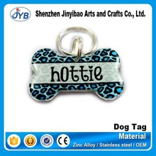 plastic bone shape blank metal brand logo dog tags