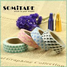 Hotsale waterproof washi tape/colorful masking tape for scrapbooking SOMITAPE