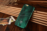 Green Crocodile print case, PU leather, thin design for iphone