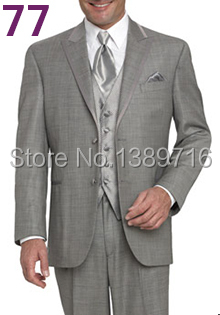 מותאם אישית קלאסי לגברים שמלת החתונה של החתן חליפות שושבין חליפת שושבין החתונה(ז ' קט+מכנסיים+עניבה)לבן חליפות משלוח חינם