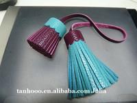 Hot sale decorative mini tassel custom leather tassel for key ring