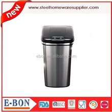 eco friendly stainless steel recycle dust bin with pp plastic lid