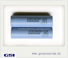 Huge stock! ICR18650-22P 2200mAh 10A Samsung 18650 22P Li-ion Battery
