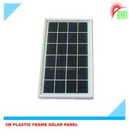 3W 6V ABS Plastic frame solar panel