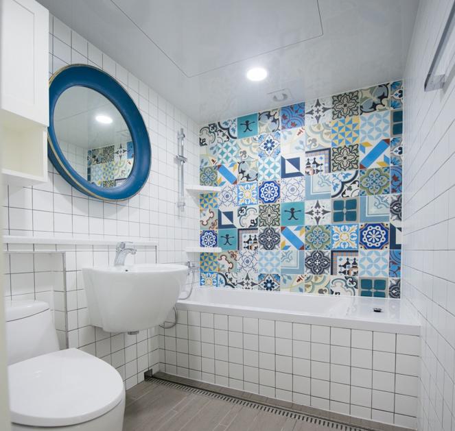 Small bathroom ideas 4x4 ceramic wall tile buy 4x4 for 4x4 bathroom ideas